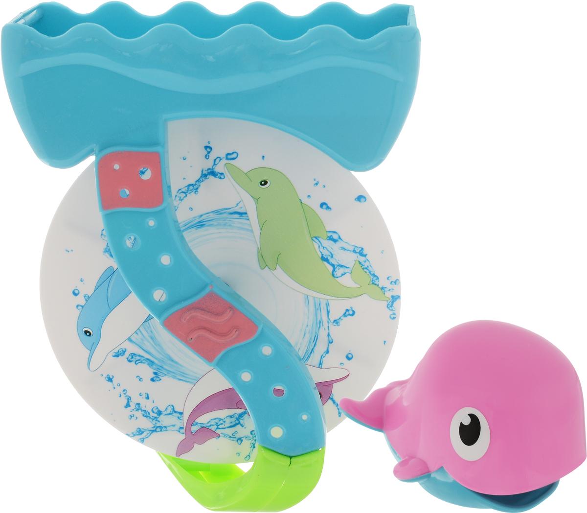 ABtoys Игрушка для ванной Дельфин цвет розовый голубой