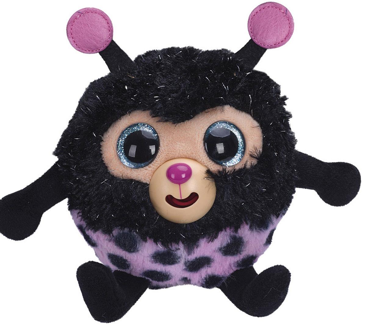 1TOY Мягкая озвученная игрушка Дразнюка-Zooка Божья коровка 13 см 1toyмягкая озвученная игрушка дразнюка zoo лисичка 13 см