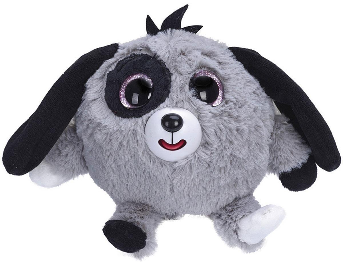 1TOY Мягкая озвученная игрушка Дразнюка-Zooка Собачка цвет серый 13 см 1toyмягкая озвученная игрушка дразнюка zoo лисичка 13 см
