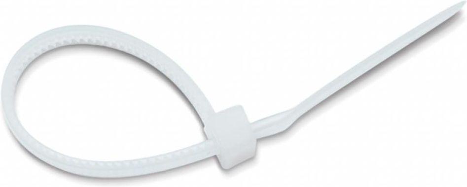 Хомут-стяжка Tech-KREP, нейлоновый, цвет: белый, 3 x 150 мм, 10 шт хомут nylon 250 x 3 5 мм 100 шт белый профессиональный