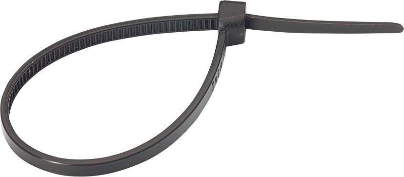 Хомут-стяжка Tech-KREP, нейлоновый, цвет: черный, 4,2 x 250 мм, 6 шт хомут nylon 250 x 3 5 мм 100 шт белый профессиональный