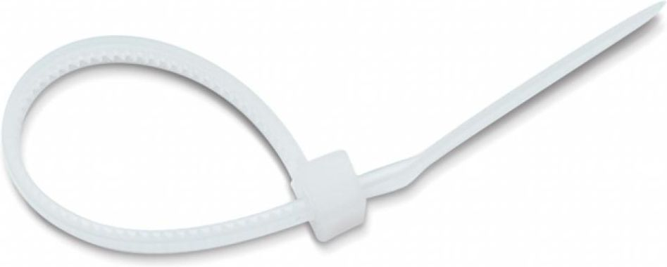 Хомут-стяжка Tech-KREP, нейлоновый, цвет: белый, 4,2 x 300 мм, 4 шт хомут стяжка 4 2х300 мм нейлон цвет белый 4 шт
