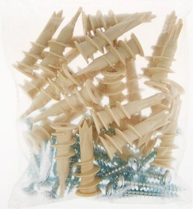 Фото - Дюбель пластиковый Tech-Krep, для гипсокартона, 5 шт дюбель 10х50 ус распорный полипропиленовый 20 шт сибртех