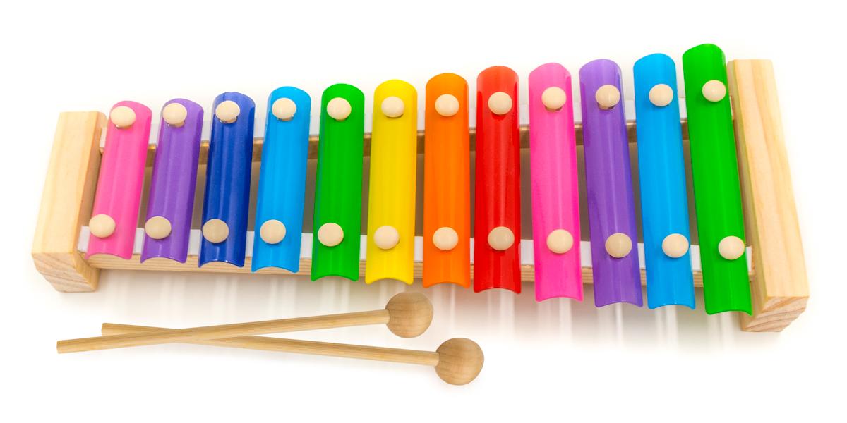 Детский музыкальный инструмент АНДАНТЕ РДИ-Д1014а красный, синий, желтый, зеленый, фиолетовый, голубой, розовый, оранжевый детский музыкальный инструмент djeco металлофон кот 06002