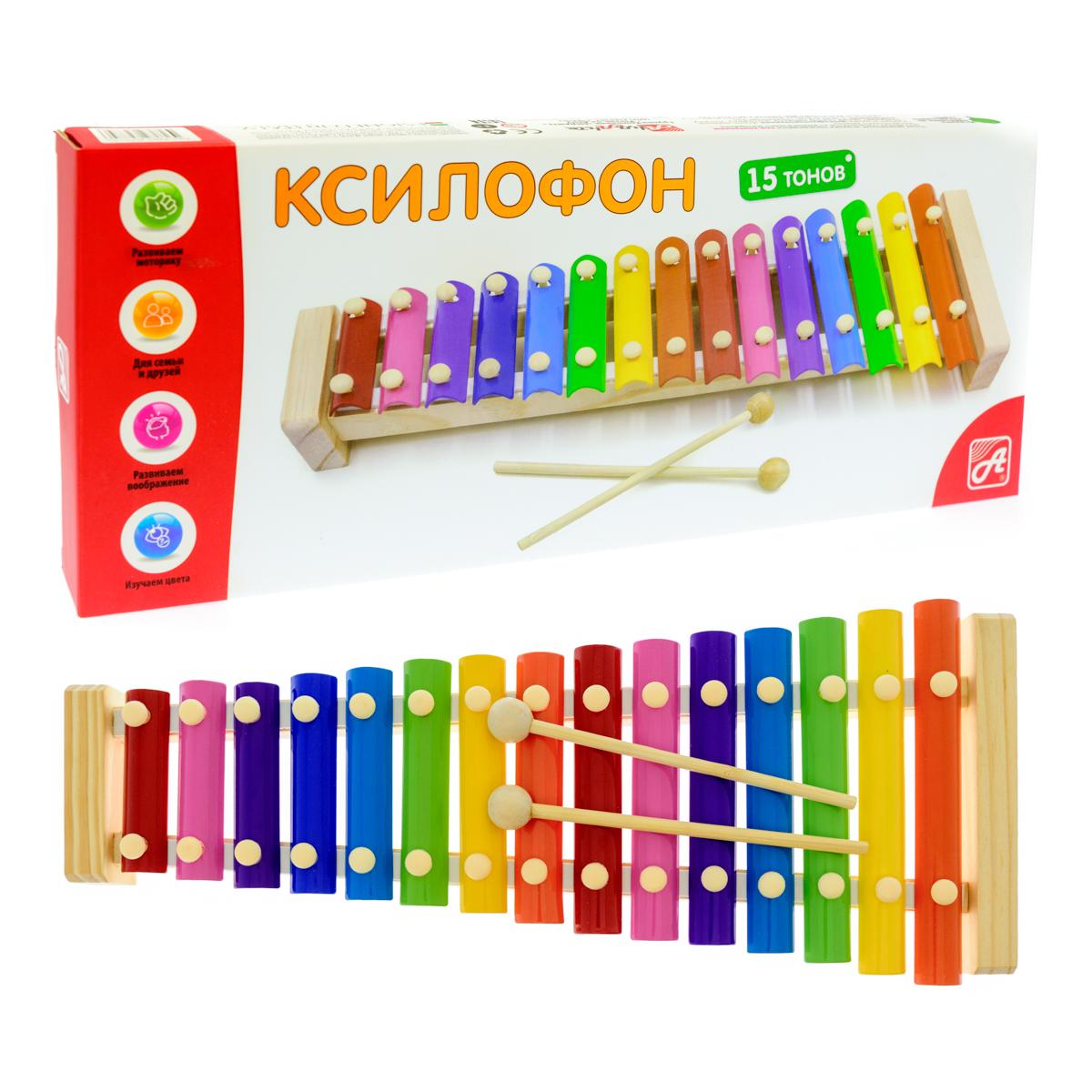 Ксилофон, металлический, 15 тонов