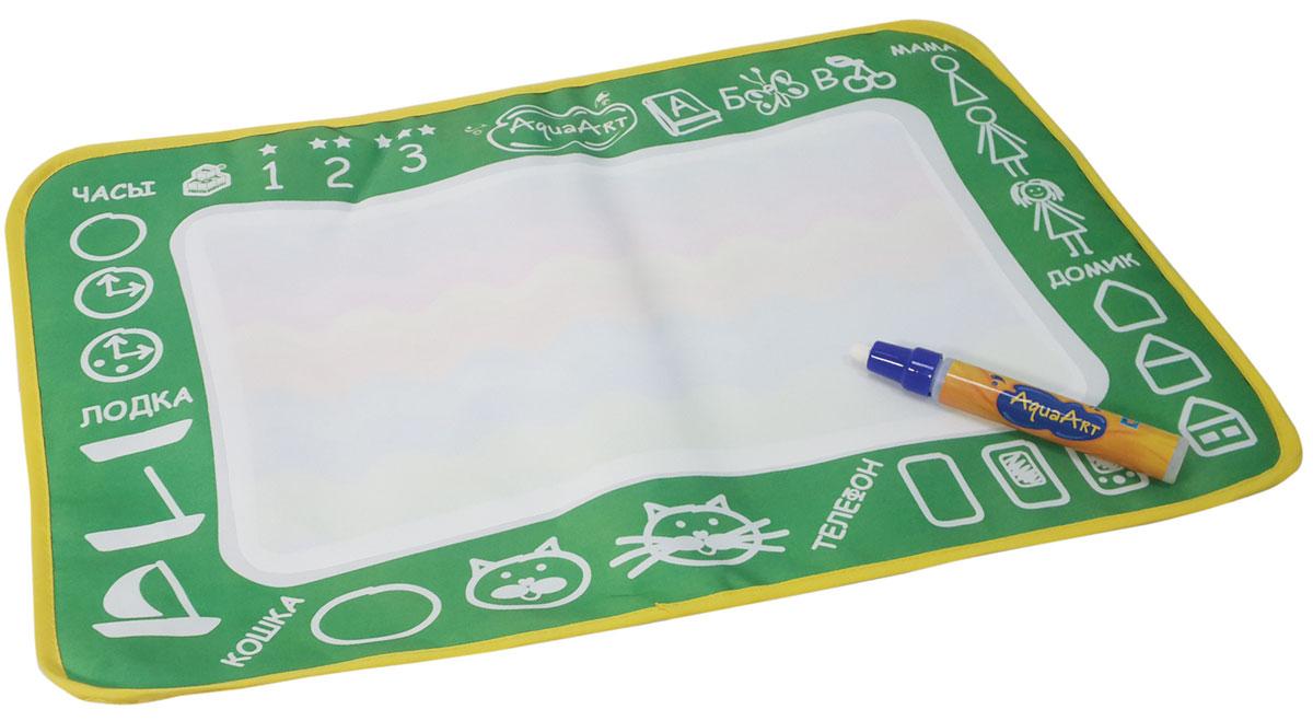 1TOY Коврик для рисования AquaArt с водным маркером цвет зеленый