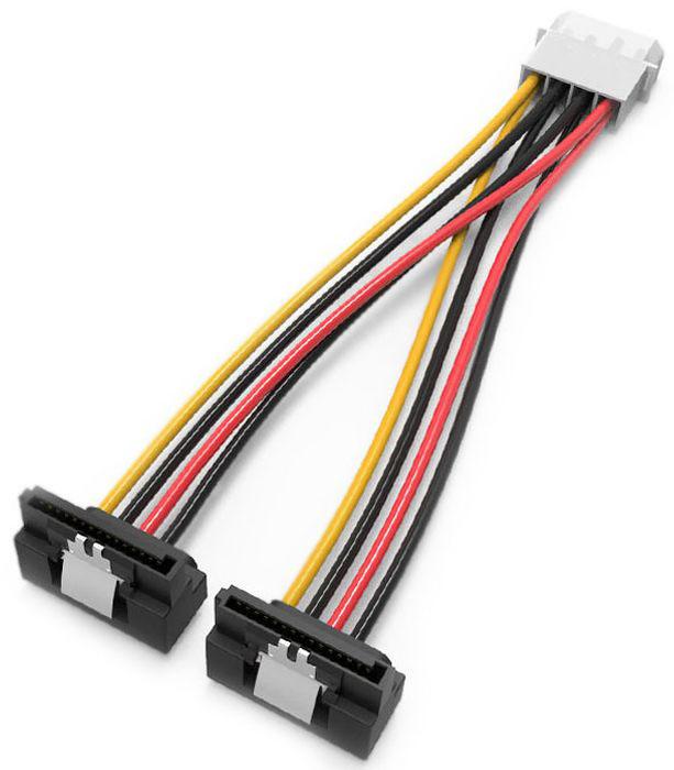 Vention MOLEX 4pin M/SATA 15pin F, Black кабель-переходник (0.15 м) переходник питания для pci ex видеокарт 2 x sata 15pin m 6pin orient c513
