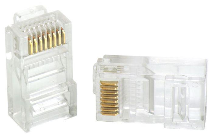 Vention RJ45 (8p8c) cat 5 коннектор под витую пару, 10 шт коннектор gembird cablexpert rj45 8p8c cat 5e plug3up6 10 10шт