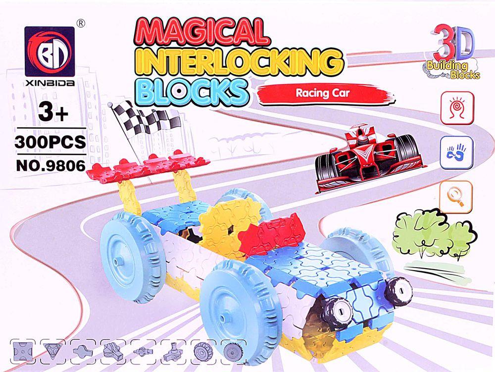 ToyToys Пластиковый 3D пазл Гоночная машина 3d пазл бомбардировщик b 17 инерционный 38 деталей