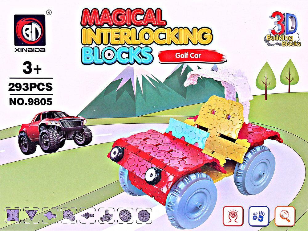 ToyToys Пластиковый 3D пазл Машина 3d пазл бомбардировщик b 17 инерционный 38 деталей