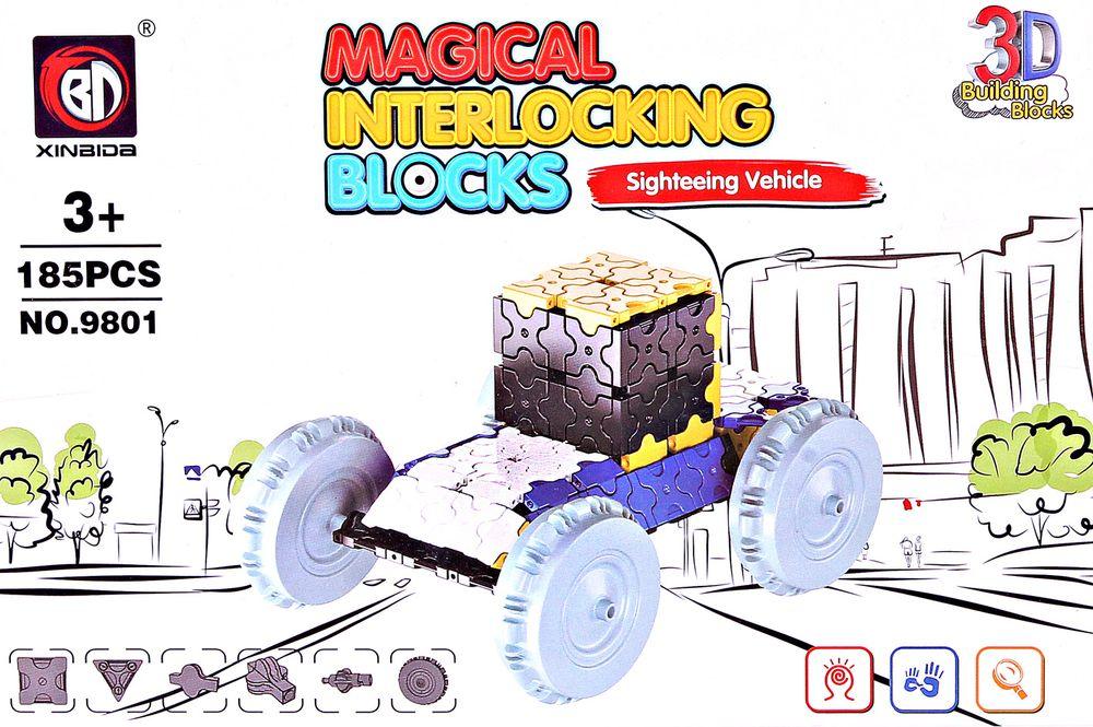 ToyToys Пластиковый 3D пазл Экскурсионная машина 3d пазл бомбардировщик b 17 инерционный 38 деталей