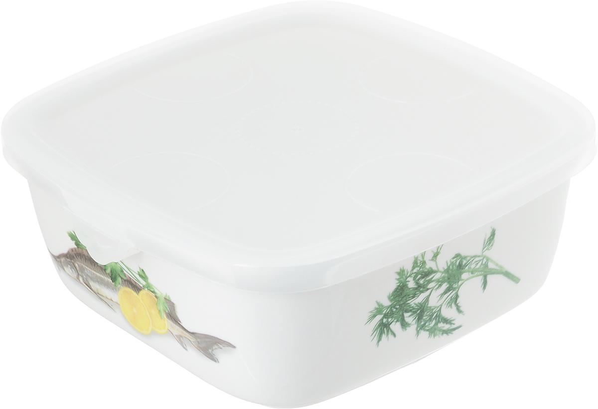 Блюдо для холодца Elan Gallery Осетр, с крышкой, 700 мл блюдо для слоеных салатов elan gallery сиреневый туман 21 5 х 16 см 600 мл