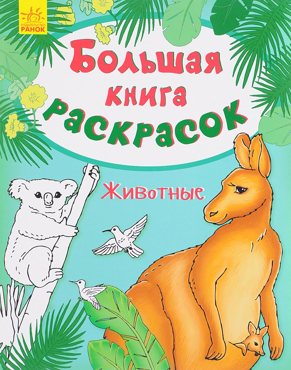 Животные. Большая книга раскрасок fenix комплект раскрасок разноцветный город смешные животные