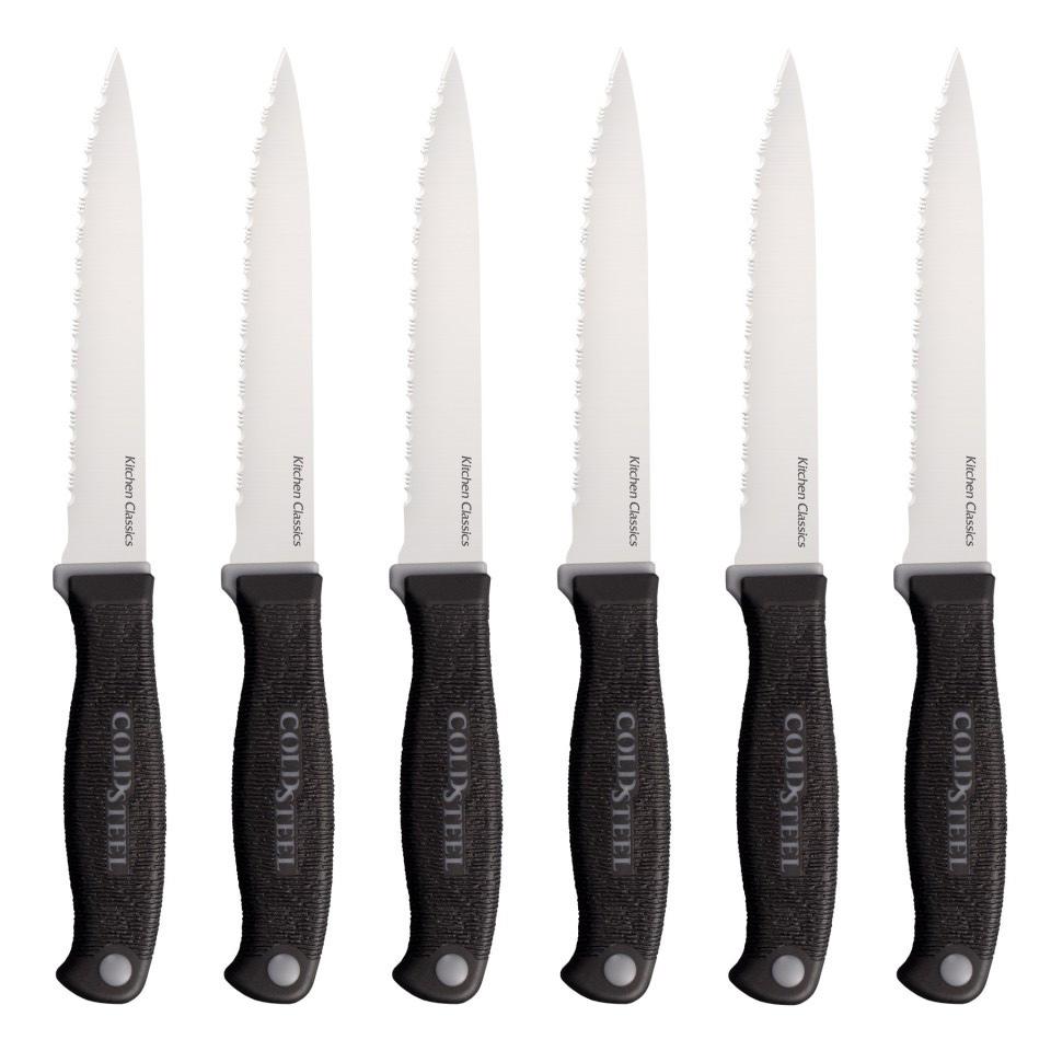 """Набор ножей Cold Steel """"Steak Knife"""", цвет: черный, длина клинка 4 5/8"""", 6 шт"""