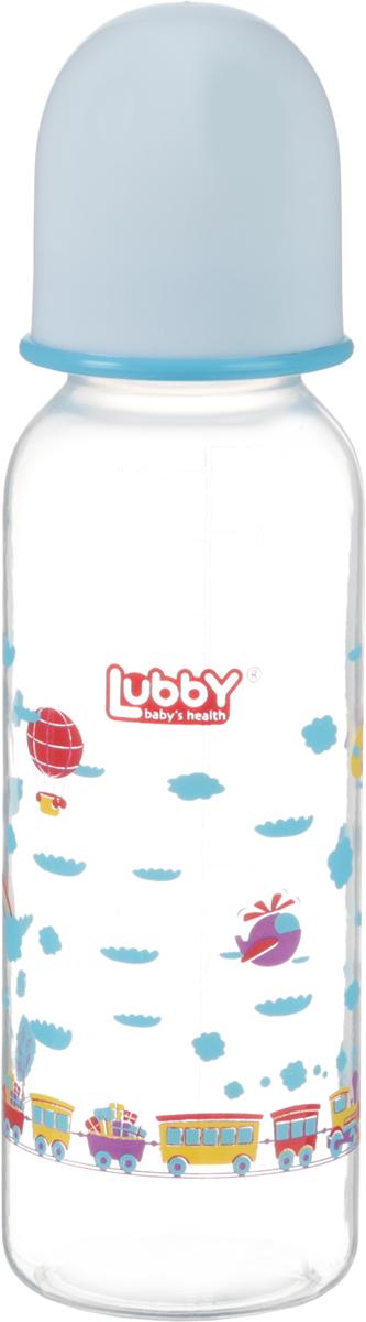 Lubby Бутылочка для кормления с силиконовой соской Малыши и малышки от 0 месяцев 250 мл lubby бутылочка для кормления с латексной соской веселые животные от 0 месяцев 125 мл