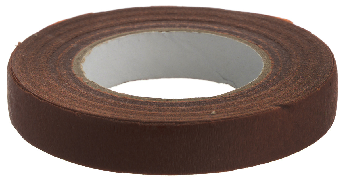 Лента флористическая Fleur, цвет: коричневый, 13 мм х 27 м липкая лента bondage tape