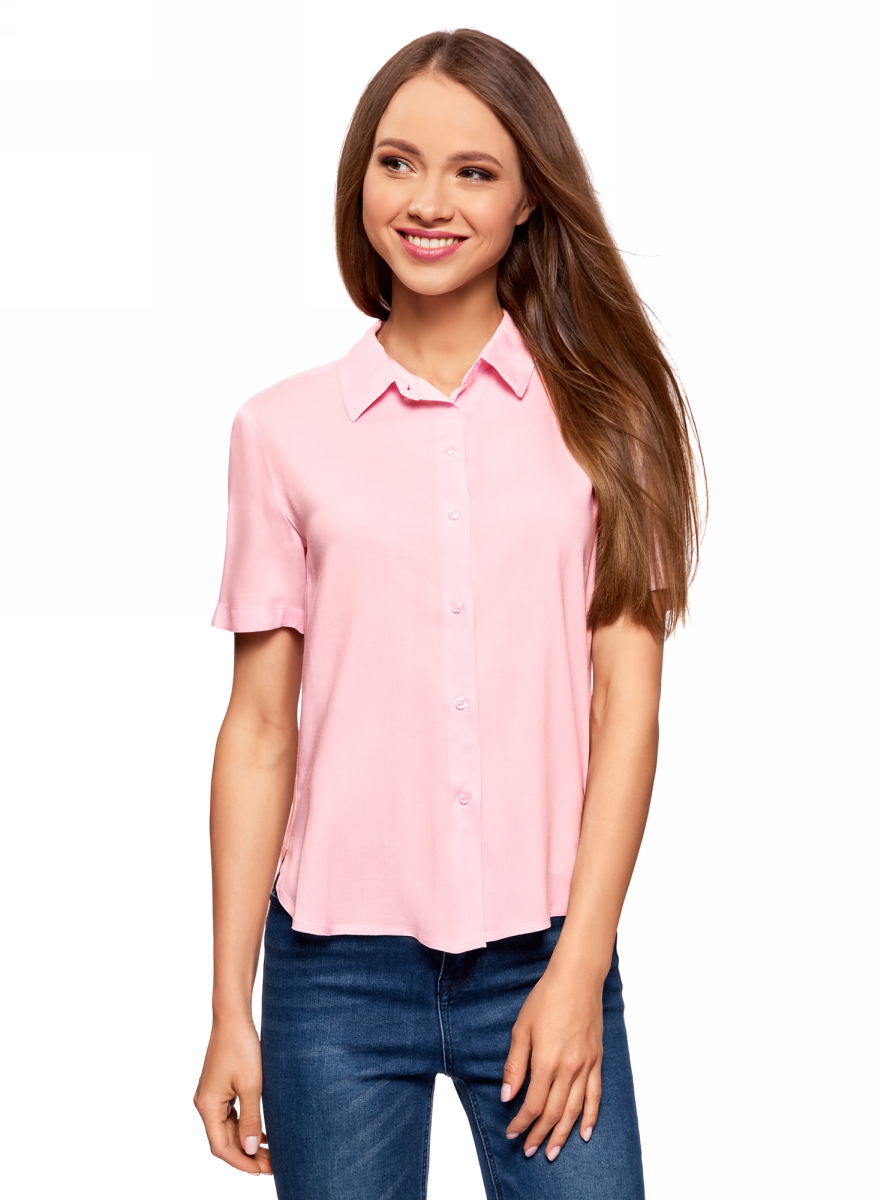 Блузка oodji блузка женская oodji ultra цвет белый голубой 13k03005 1 46440 1070o размер 36 42 170