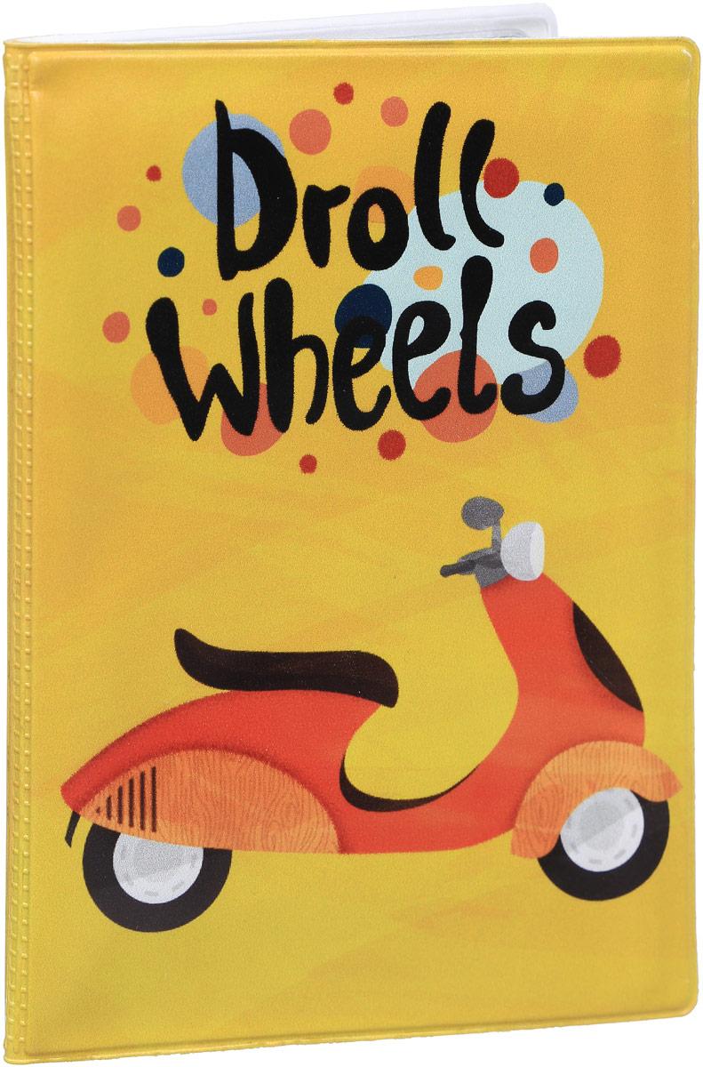 Обложка для автодокументов Kawaii Factory Droll Wheels, цвет: желтый. KW063-000061 обложка для автодокументов kawaii factory инструкция летчику цвет зеленый kw063 000022