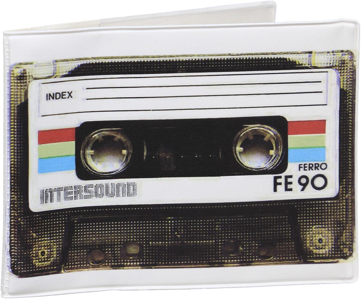 Обложка для зачетной книжки Kawaii Factory Ретро-кассета, цвет: белый, черный. KW067-000021 обложка для зачетной книжки спб мосты и крепость оз2018 014