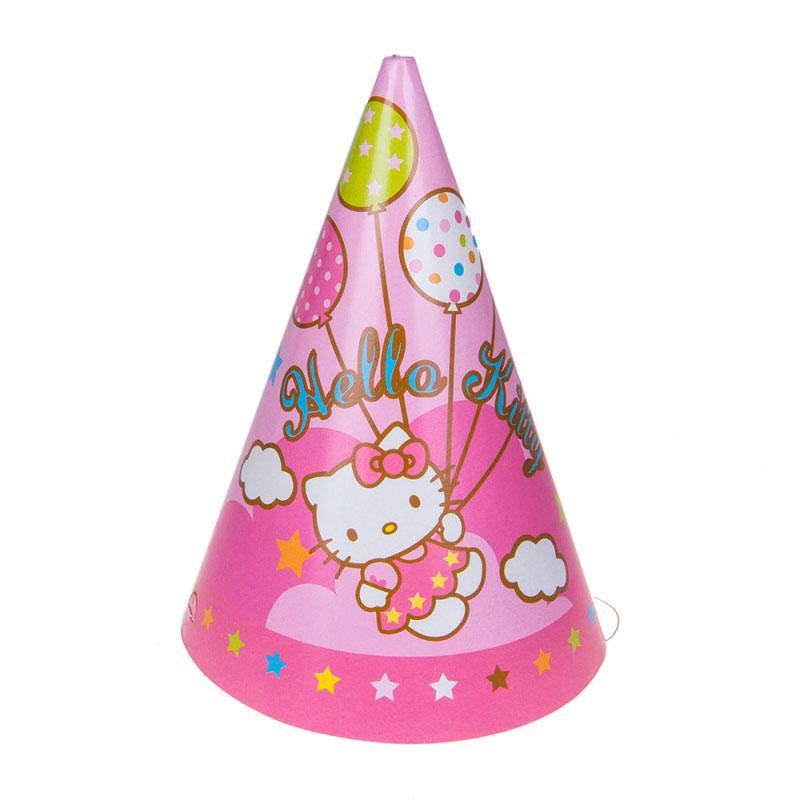 Веселая затея Колпак Hello Kitty 8 шт веселая затея стакан медвежонок девочка 8 шт