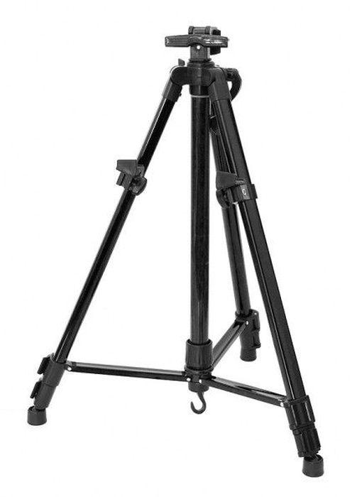 """Мольберт-тренога """"Белоснежка"""", телескопический, цвет: черный, высота 51-150 см"""