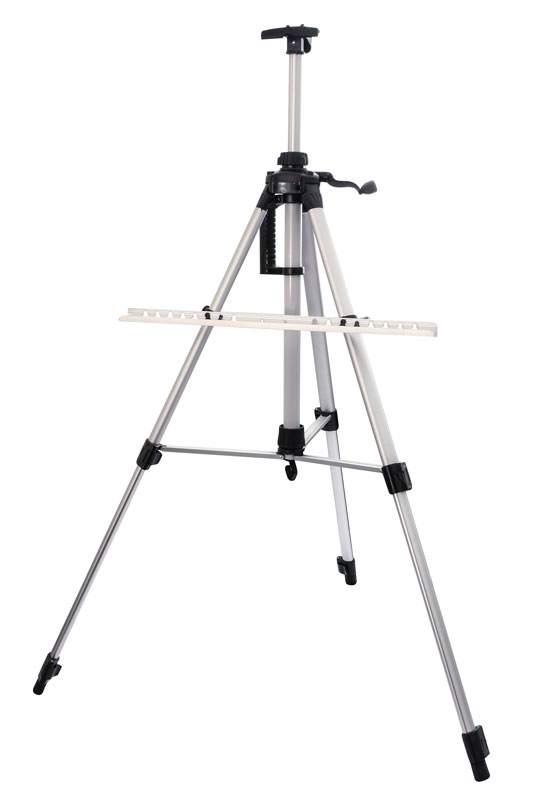 """Мольберт-тренога """"Белоснежка"""", телескопический, цвет: серебристый, 55-155 см"""