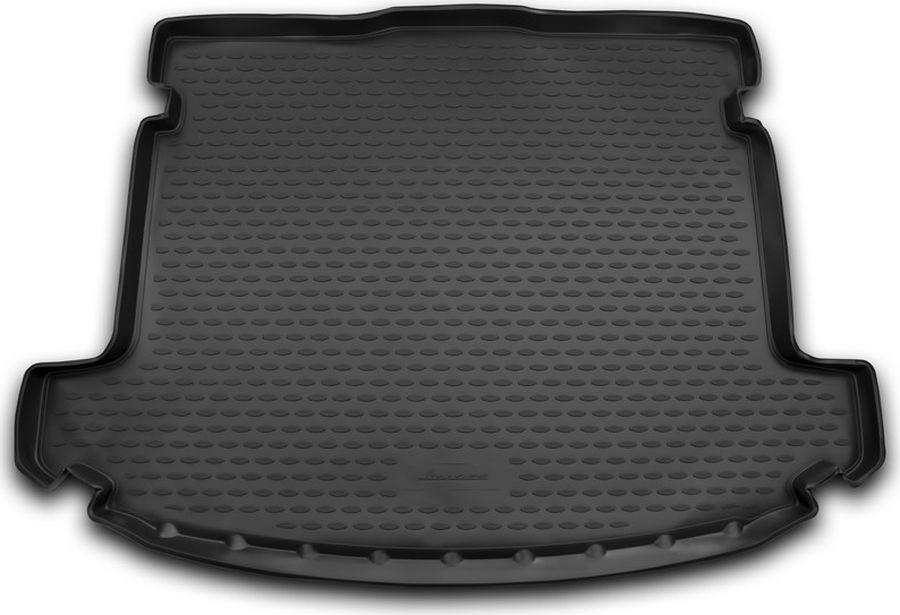 Коврик автомобильный Element, для автомобиля KIA Carens, 2013->, 5 мест., 1 шт., цвет: черный, в багажник цена и фото
