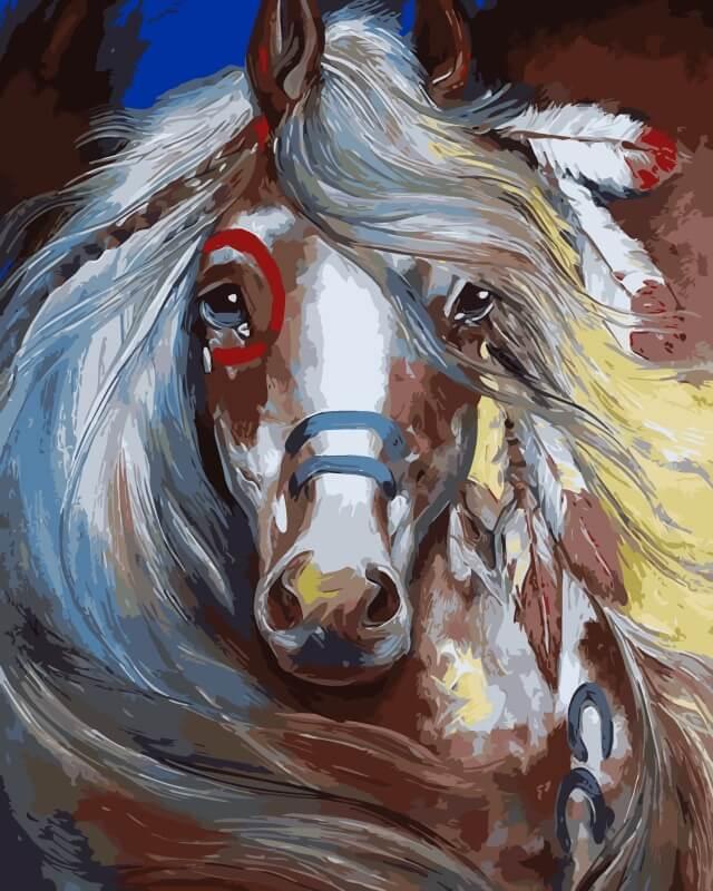 Набор для рисования по номерам Цветной Индейская красотка, 30 х 40 см