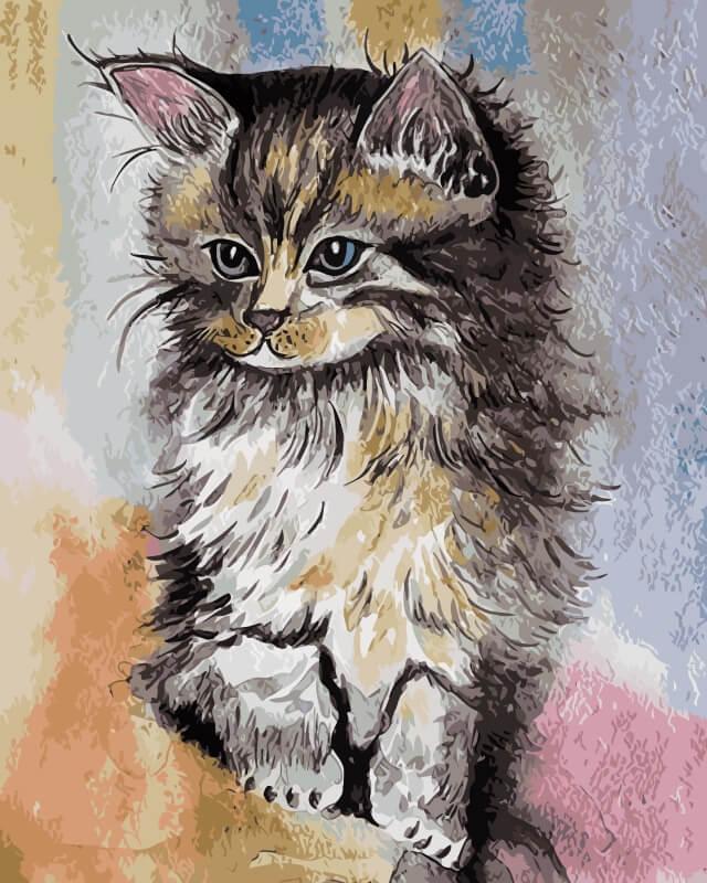 Набор для рисования по номерам Цветной Котенок, 30 х 40 см набор для рисования по номерам цветной милый котенок 40 х 50 см