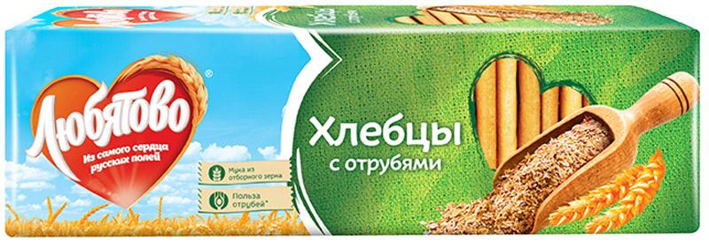 Любятово Хлебцы С отрубями, 185 г любятово печенье мария 500 г