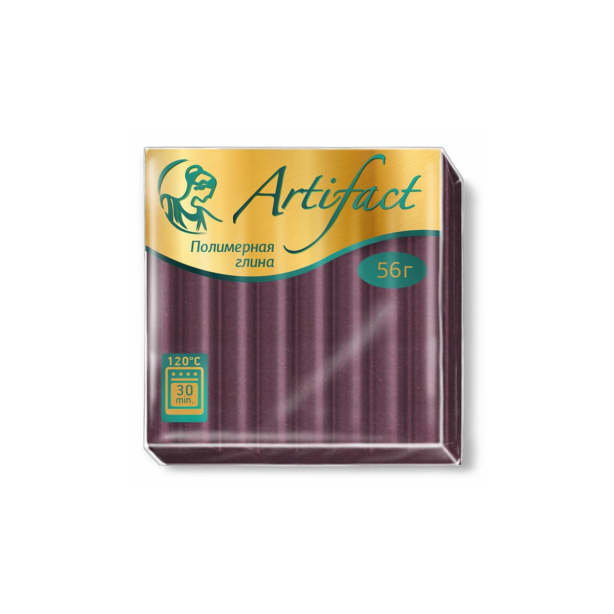 Полимерная глина Артефакт, классическая, цвет: шоколад, 56 г брошь лабрадор полимерная глина