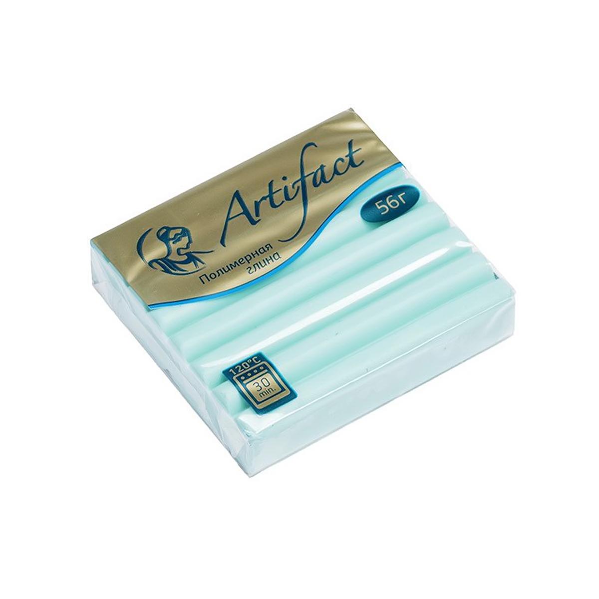 Полимерная глина Артефакт, с повышенной прочностью, классическая, цвет: горное озеро, 56 г полимерная глина artifact 7109 78 9 цветов