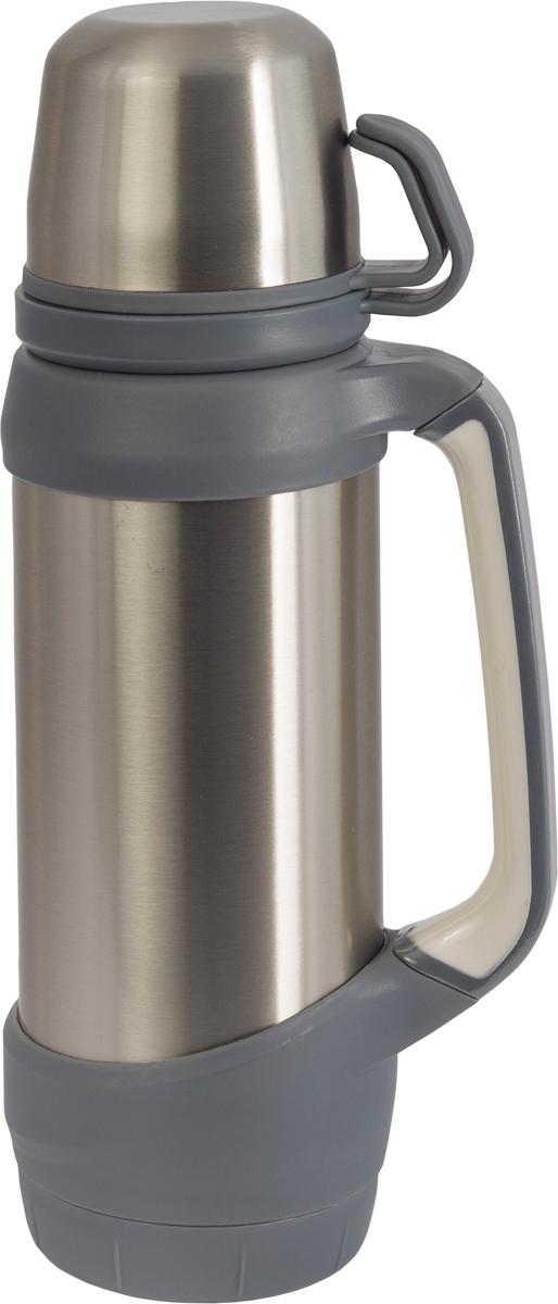 Термос Indiana Classic, с двумя чашками, цвет: стальной, серый, 1 л