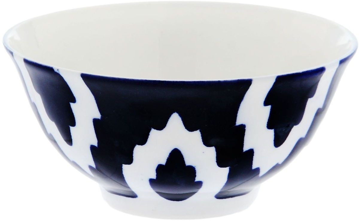 Фото - Коса Turon Porcelain Атлас, цвет: синий, белый, диаметр 14,5 см тарелка turon porcelain атлас цвет белый синий золотистый диаметр 22 5 см