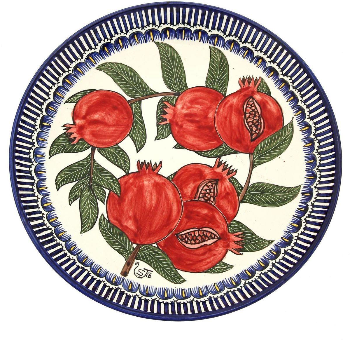 Ляган Риштанская керамика Гранат, диаметр 31 см. 1924213 Уцененный товар (№3)
