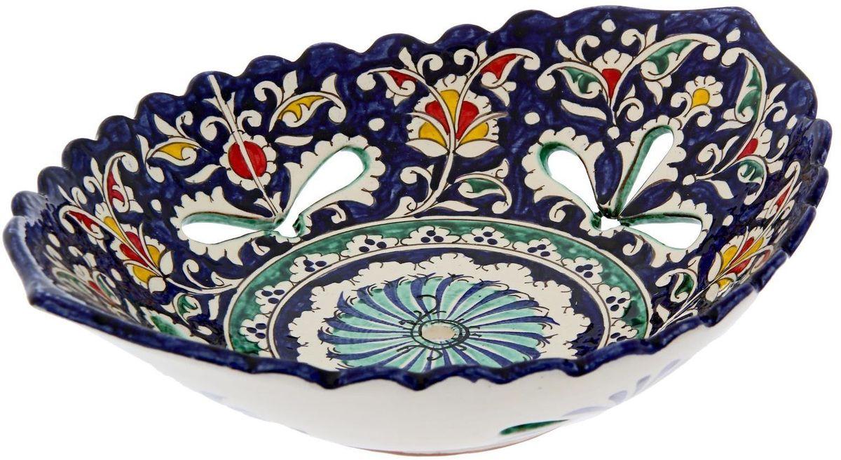 Блюдо Риштанская керамика, овальное, 28 х 20 см
