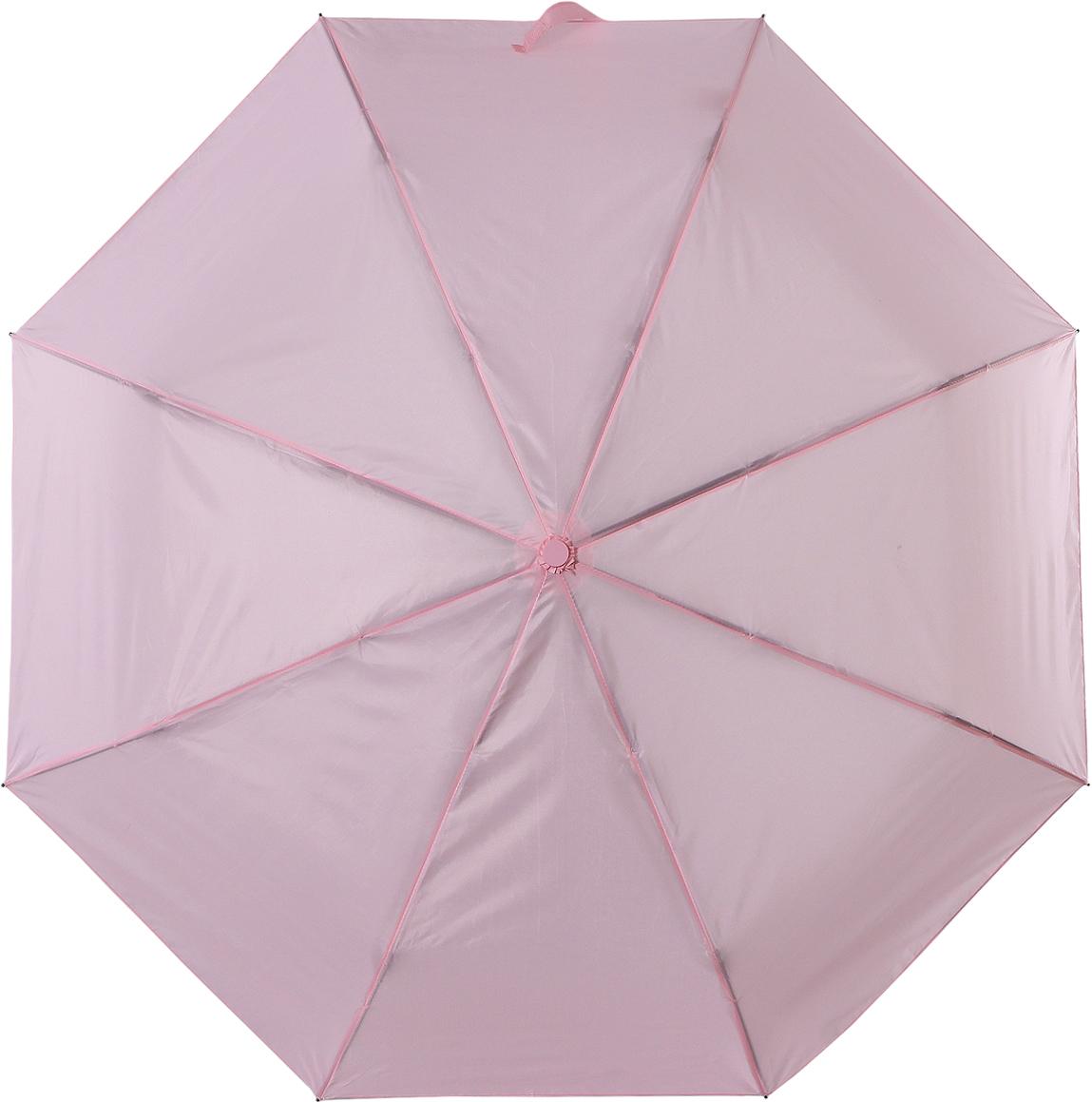 Зонт женский Torm, автомат, 3 сложения, цвет: светло-розовый. 3731-12 цена