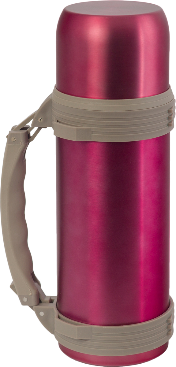 цена на Термос Indiana WD 3605, со складной ручкой, цвет: фуксия, 1,2 л