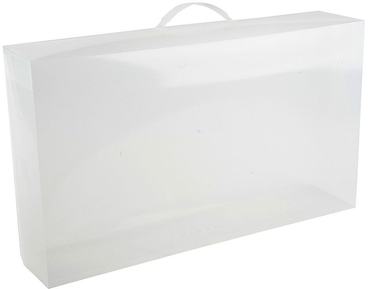Набор коробов для хранения Handy Home, 52 х 30 х 11,5 см, цвет: белый, 2 шт короб для хранения обуви handy homeроза 4 секции 94 х 60 х 15 см