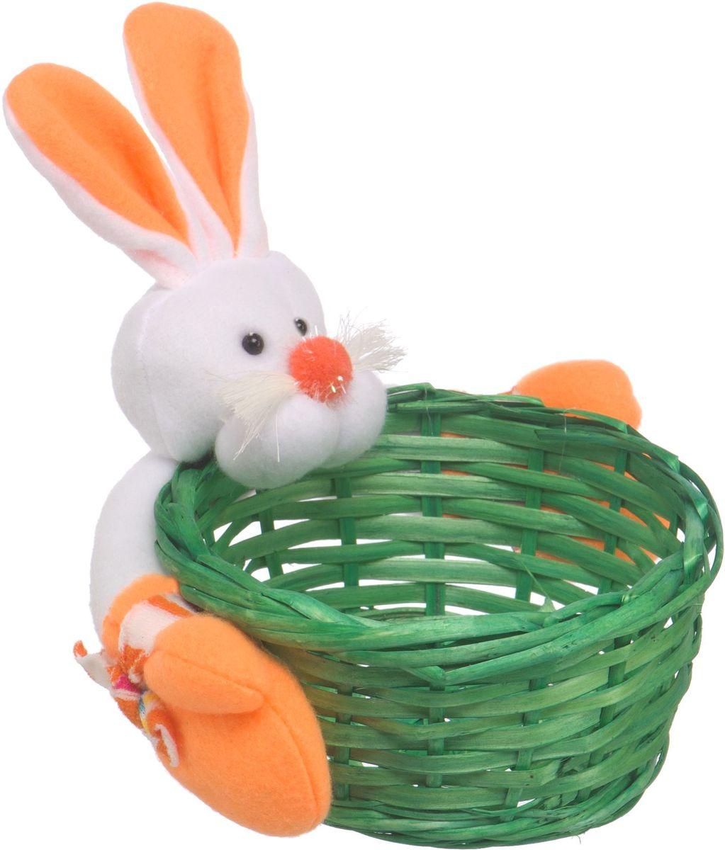 Корзина стеллажная Natural House Зайчик, цвет: зеленый, 14 x 12 x 7 см корзина складная outwell folding basket цвет зеленый 50 x 29 x 25 см