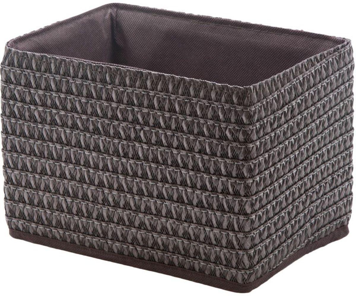 Короб для хранения Handy Home, складной, без крышки, цвет: коричневый, 25 х 19 х 17 см короб для хранения handy home складной без крышки цвет белый 21 х 15 х 15 см