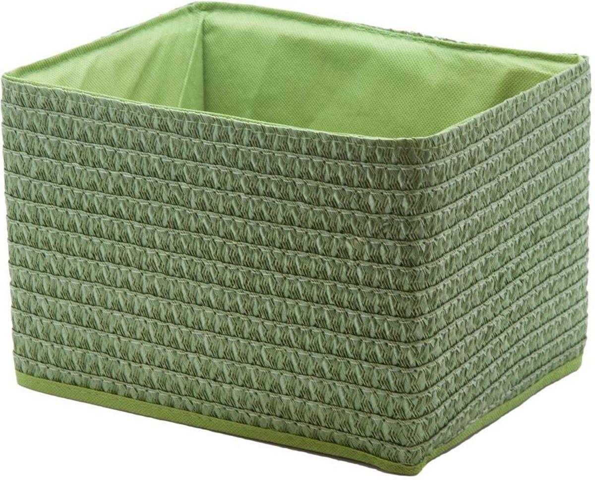 Короб для хранения Handy Home, складной, без крышки, цвет: зеленый, 25 х 19 х 17 см короб для хранения handy home складной без крышки цвет белый 21 х 15 х 15 см