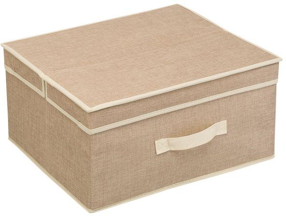 чехол для одежды handy home лен uc 25 60х100 см Кофр для хранения вещей Handy Home Лен, 41 х 35 х 20 см