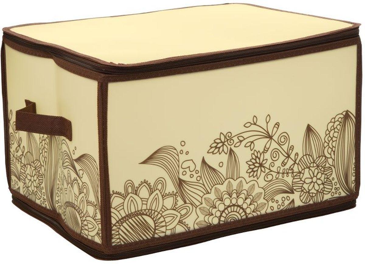 Короб для хранения Handy Home Цветы, складной, 30 х 40 х 25 см короб для хранения обуви handy homeроза 4 секции 94 х 60 х 15 см