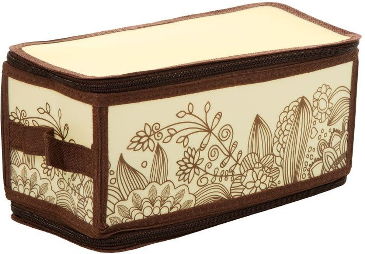 Короб для хранения Handy Home Цветы, складной, 30 х 15 х 15 см короб для хранения обуви handy homeроза 4 секции 94 х 60 х 15 см