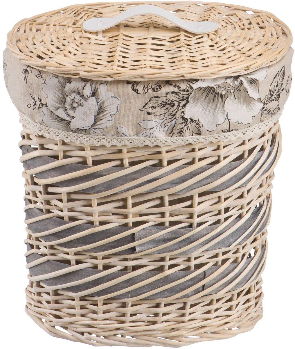 Корзина для белья Natural House Цветы. Фиалка, цвет: молочный, 32 х 21 х 36 см худи print bar космическая мода