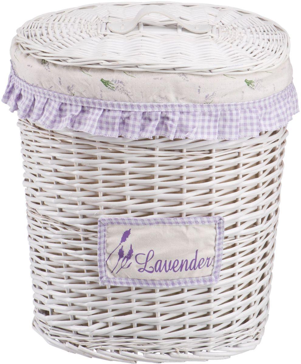 Корзина для белья Natural House Лаванда, высокая, цвет: белый, 39 х 27 х 45 см корзина для белья natural house лаванда высокая цвет белый 48 х 36 х 55 см