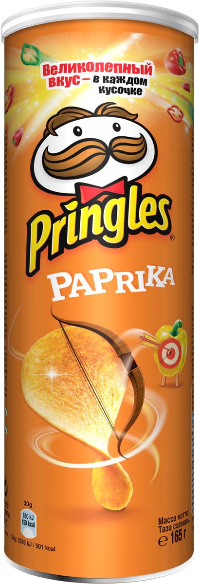 Фото - Pringles картофельные чипсы со вкусом паприки, 165 г pringles картофельные чипсы со вкусом краба 70 г