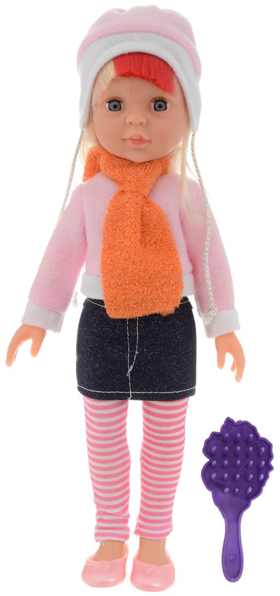 ABtoys Кукла Времена года цвет наряда розовый темно-синий