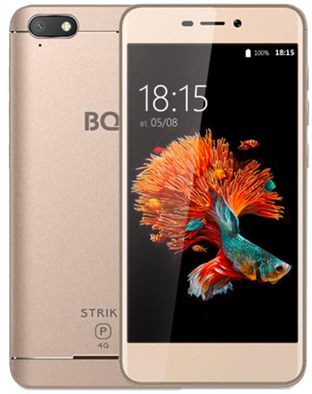 Смартфон BQ Mobile 5037 Strike Power 4G 8 GB, золотистый смартфон bq mobile strike power 4g 8 gb серый